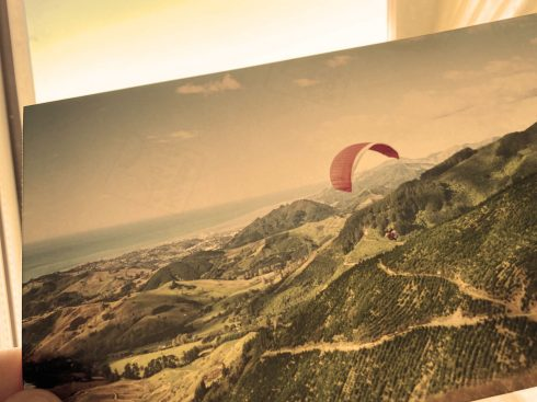 9. paraglider in the air